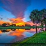 Sunset at the Golf Course in Abacoa Jupiter Florida