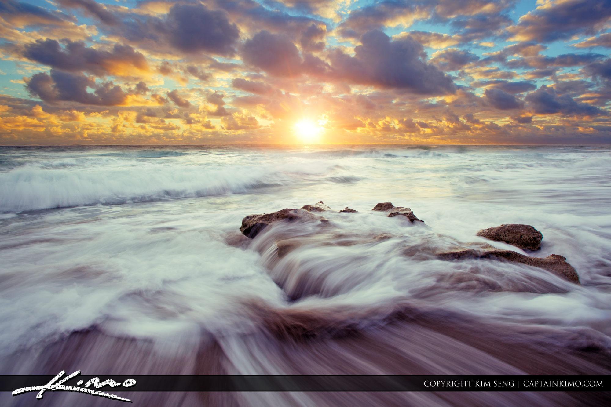 Nautical Beach Sunrise Wide | Royal Stock Photo
