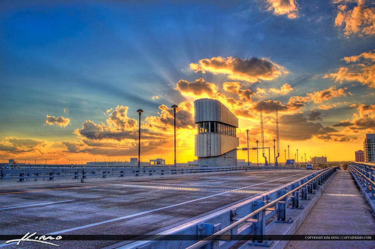 17 Street Drawbridge Sunset Fort Lauderdale City