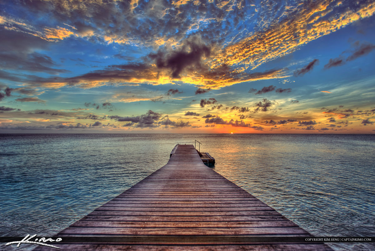 Curacao Sunset at Floating Pier