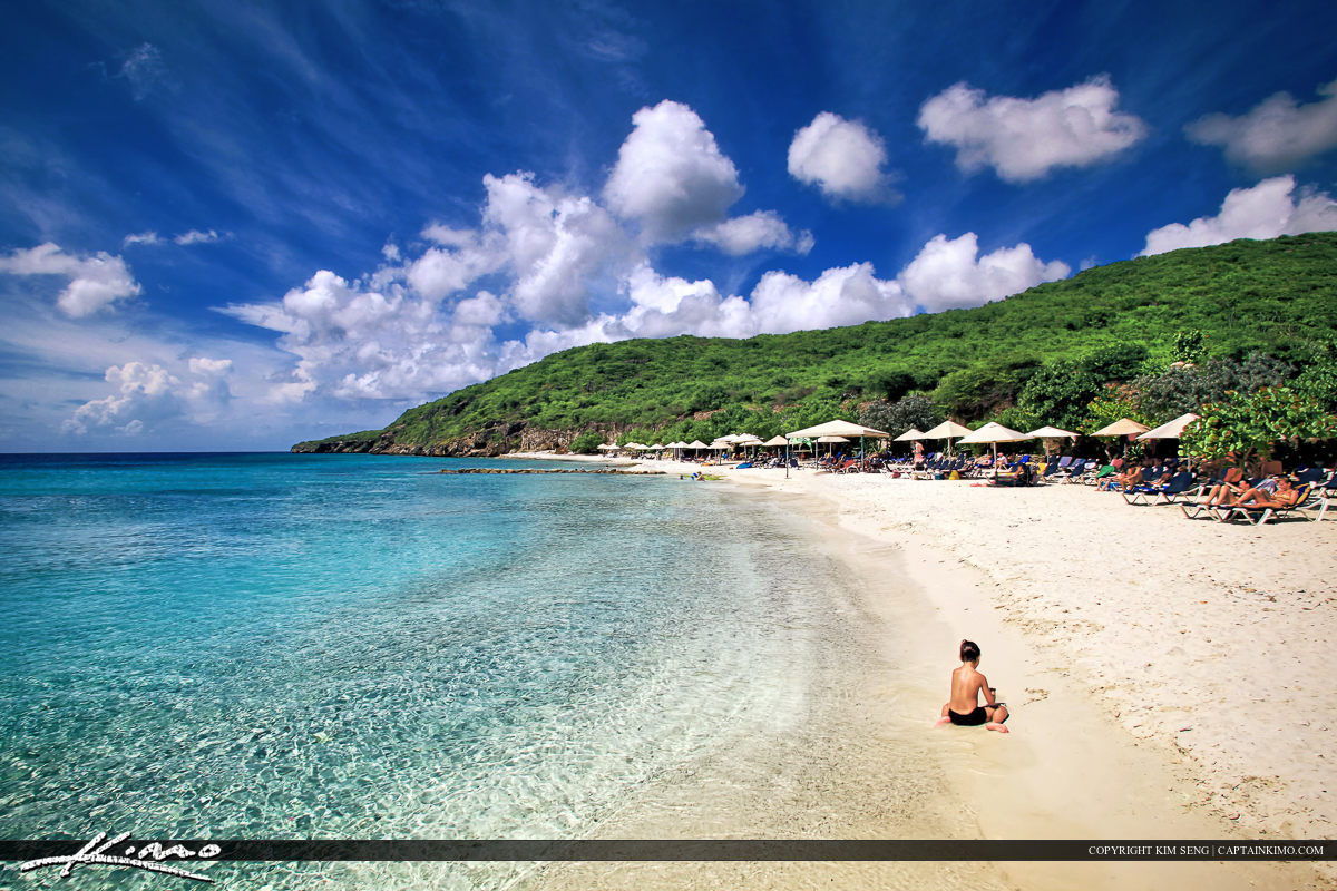 Curacao Island Paradise White Sand Beach Crystal Clear Blue Water