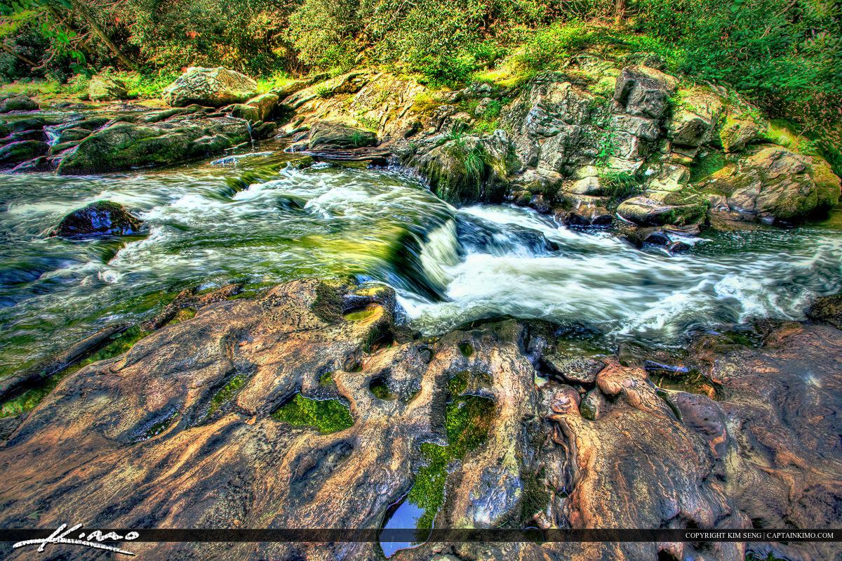 Cullasaja River Falls up Stream North Carolina Mountains Franklin