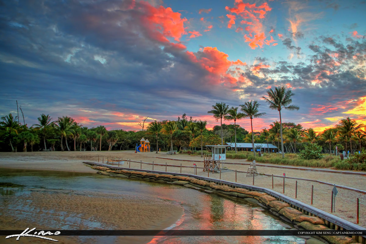 Dubois Park Jupiter Inlet Florida Sunset