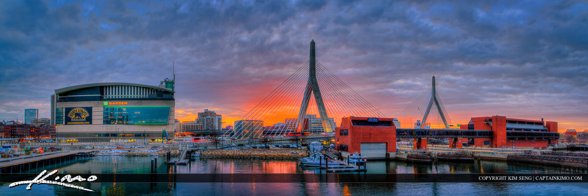 Boston Gardens North Station and Bunker Hill Bridge