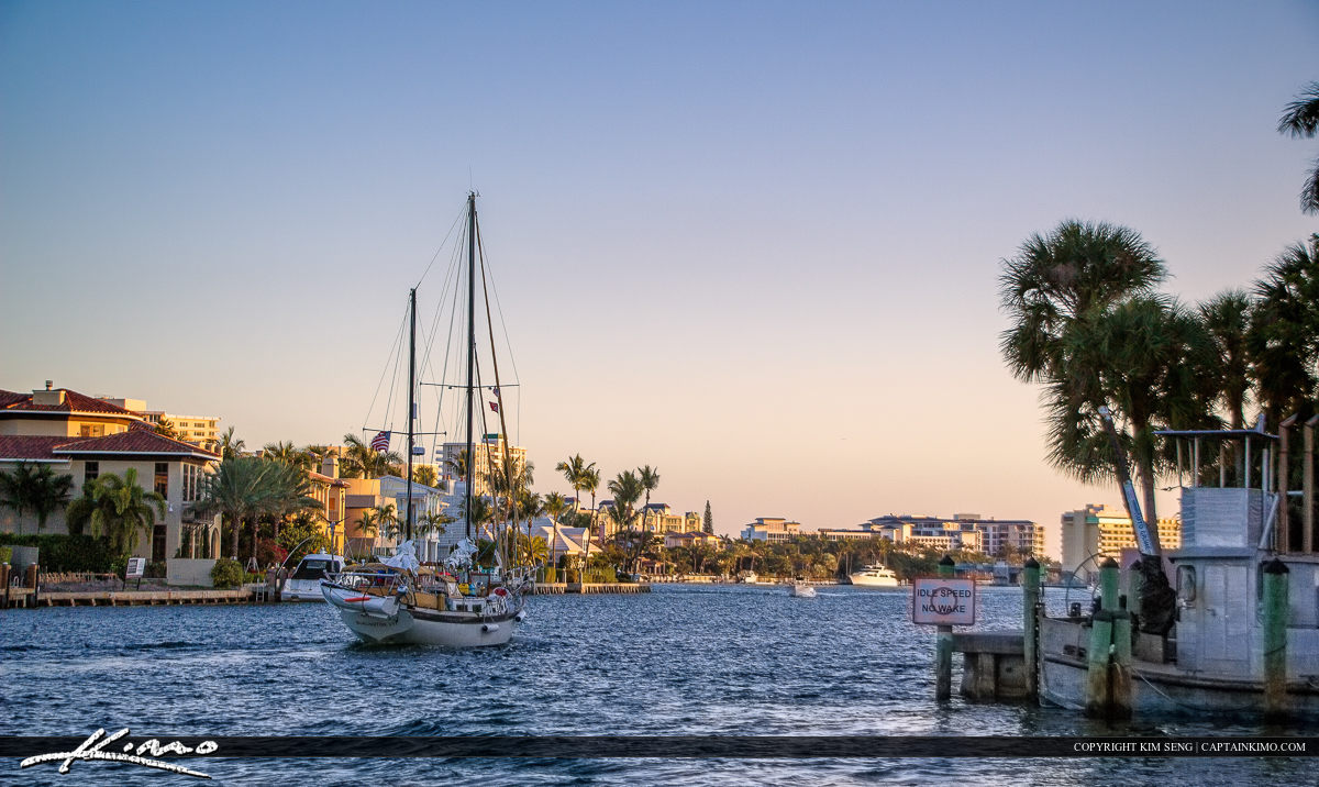 Boca Raton Sailboat at Waterway