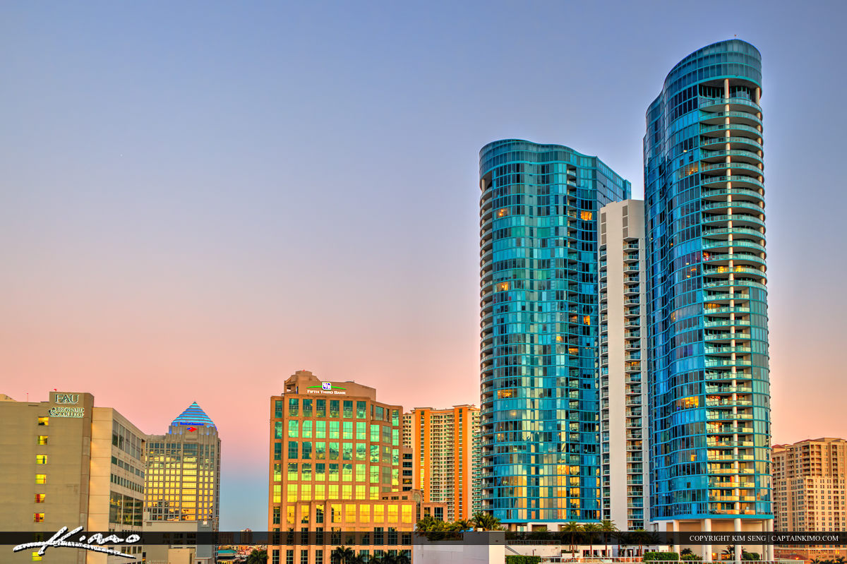 Fort Lauderdale Downtown City Skyline Buildings