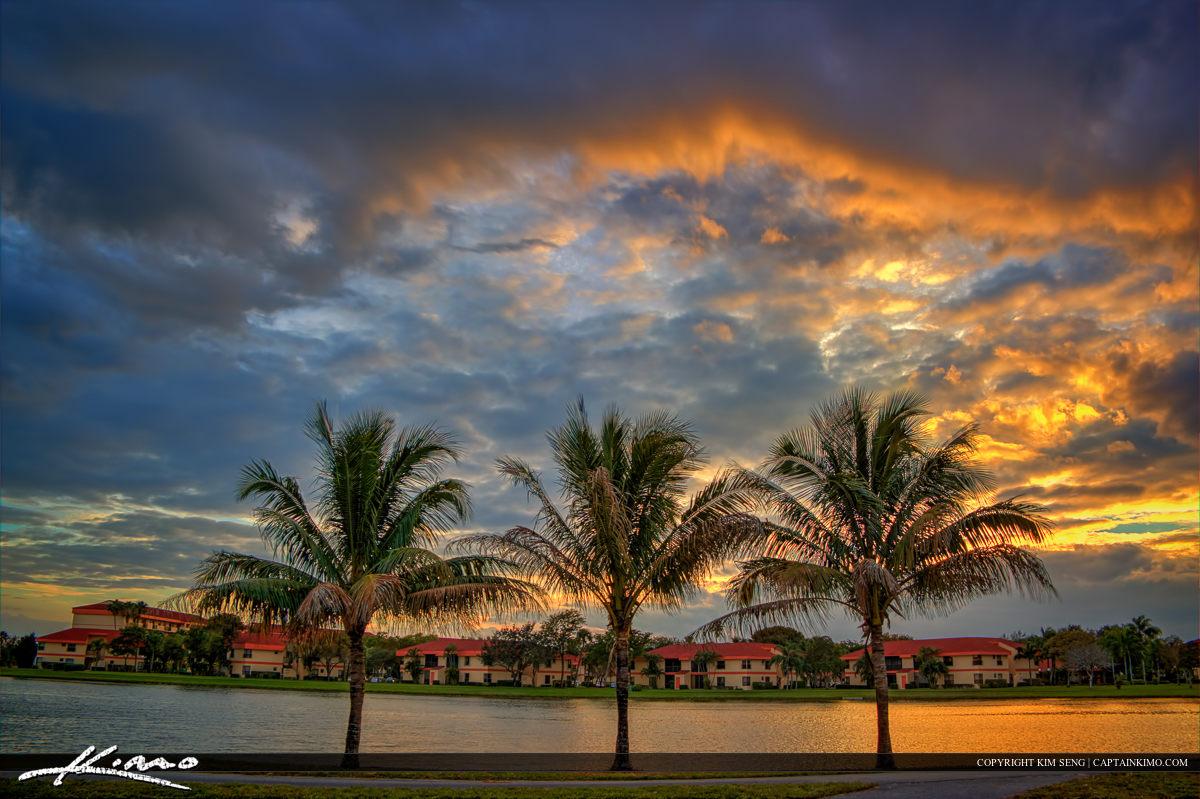 Tradewinds Park Sunset at Lake Coconut Creek Florida