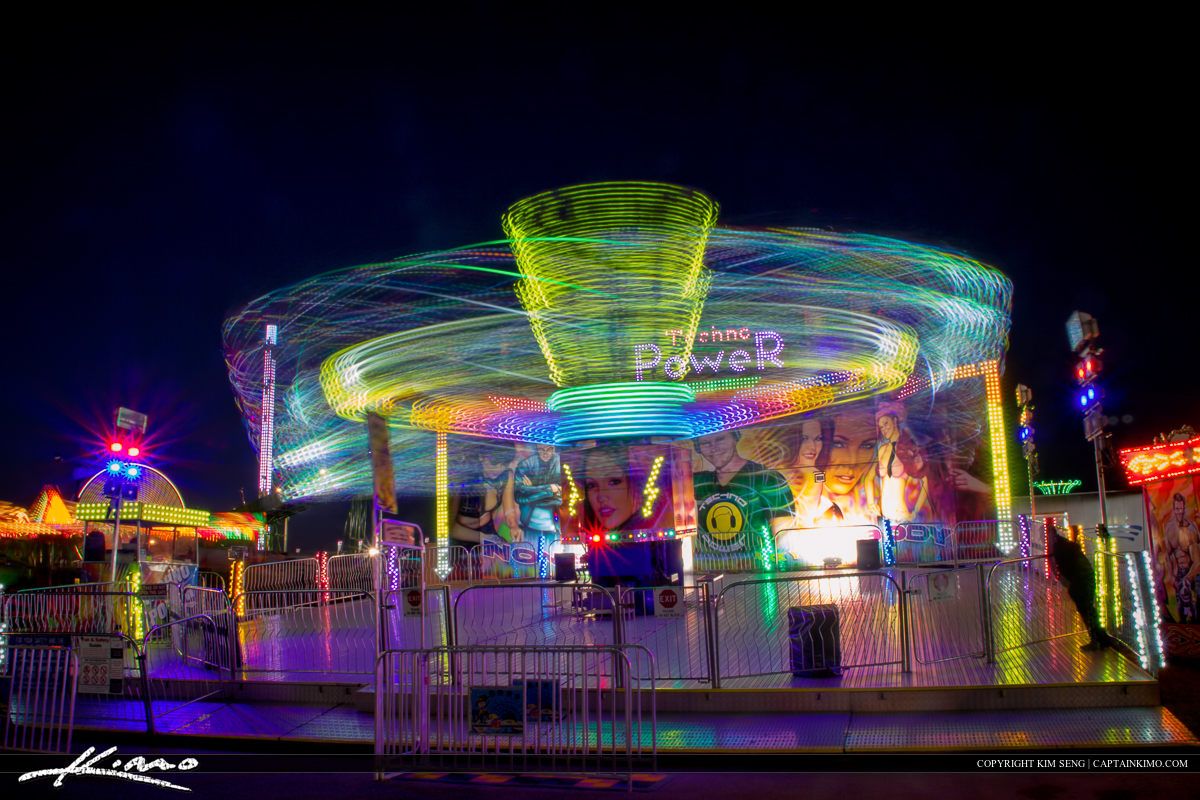 South Florida Fair Purple Light Trails from Ride