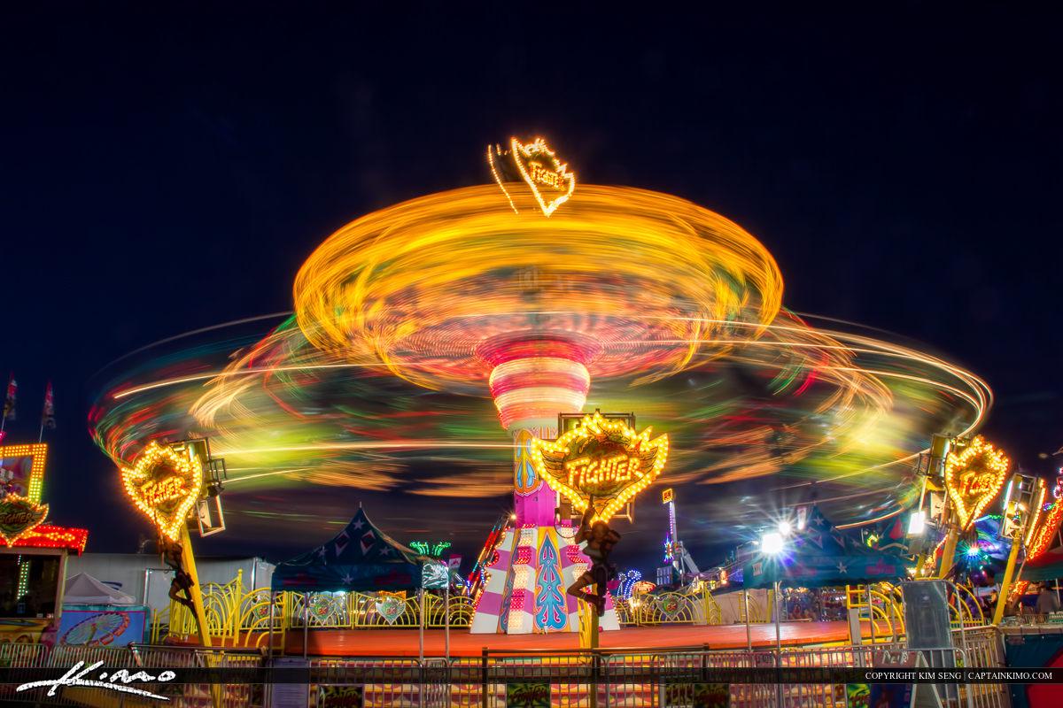 South Florida Fair Nighttime Spinning Ride