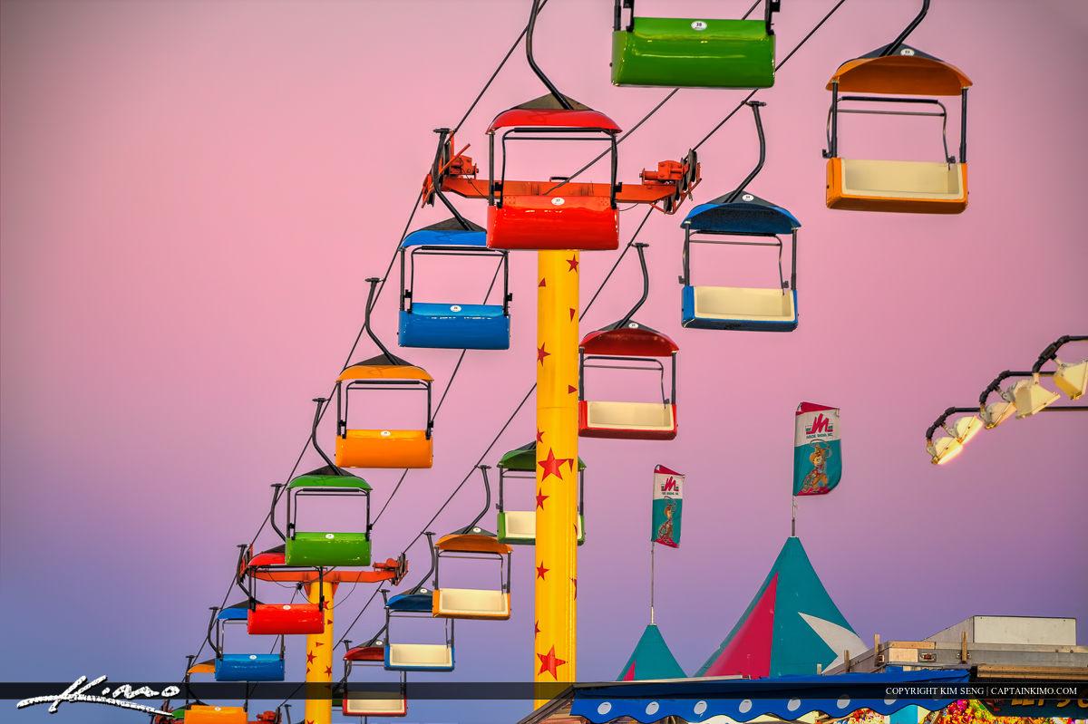 South Florida Fair Empty Sky Lift at the Fair