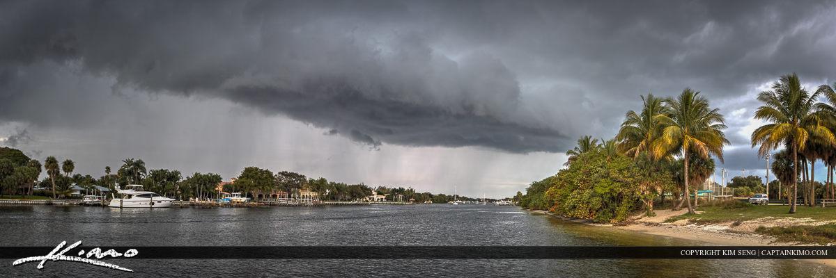 Storm Clouds Over Intracoastal Waterway Juno Beach
