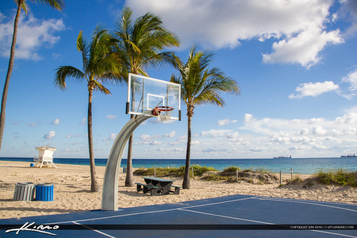 Fort Lauderdale Basketball Court at Beach