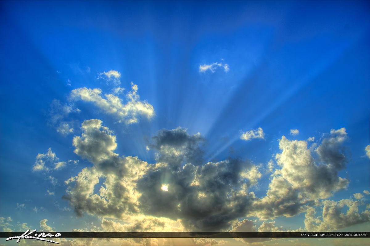 Beam of Light from Above Sunrays Beam of Light Clouds