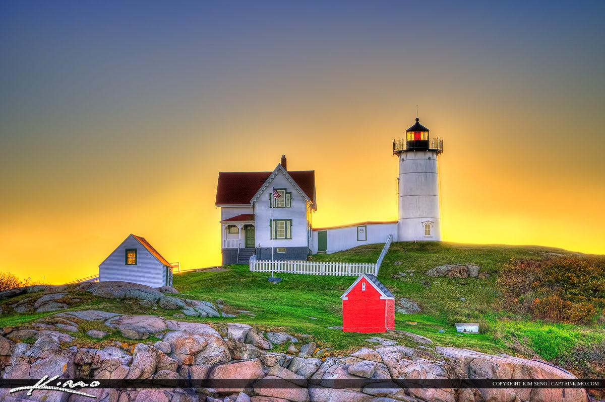 Nubble Lighthouse at Cape Neddick York Beach Maine