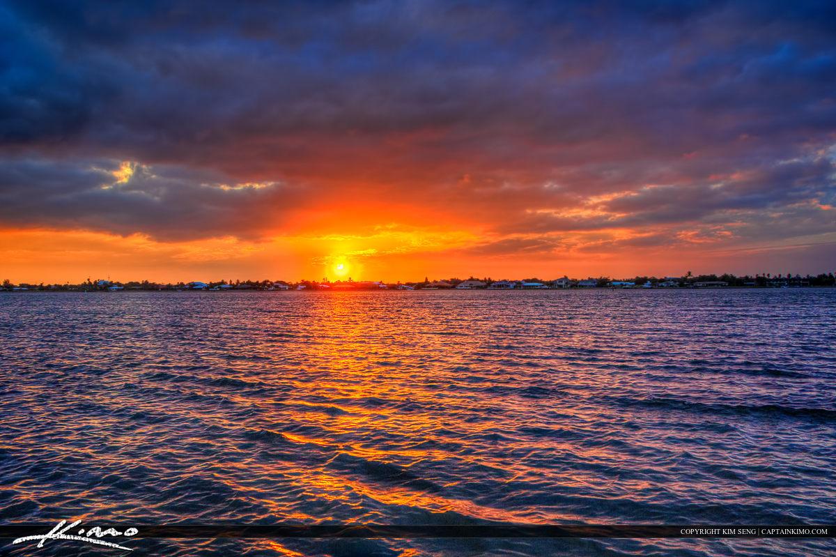 Indian River Lagoon Sunset Photo Vero Beach Florida Indian River