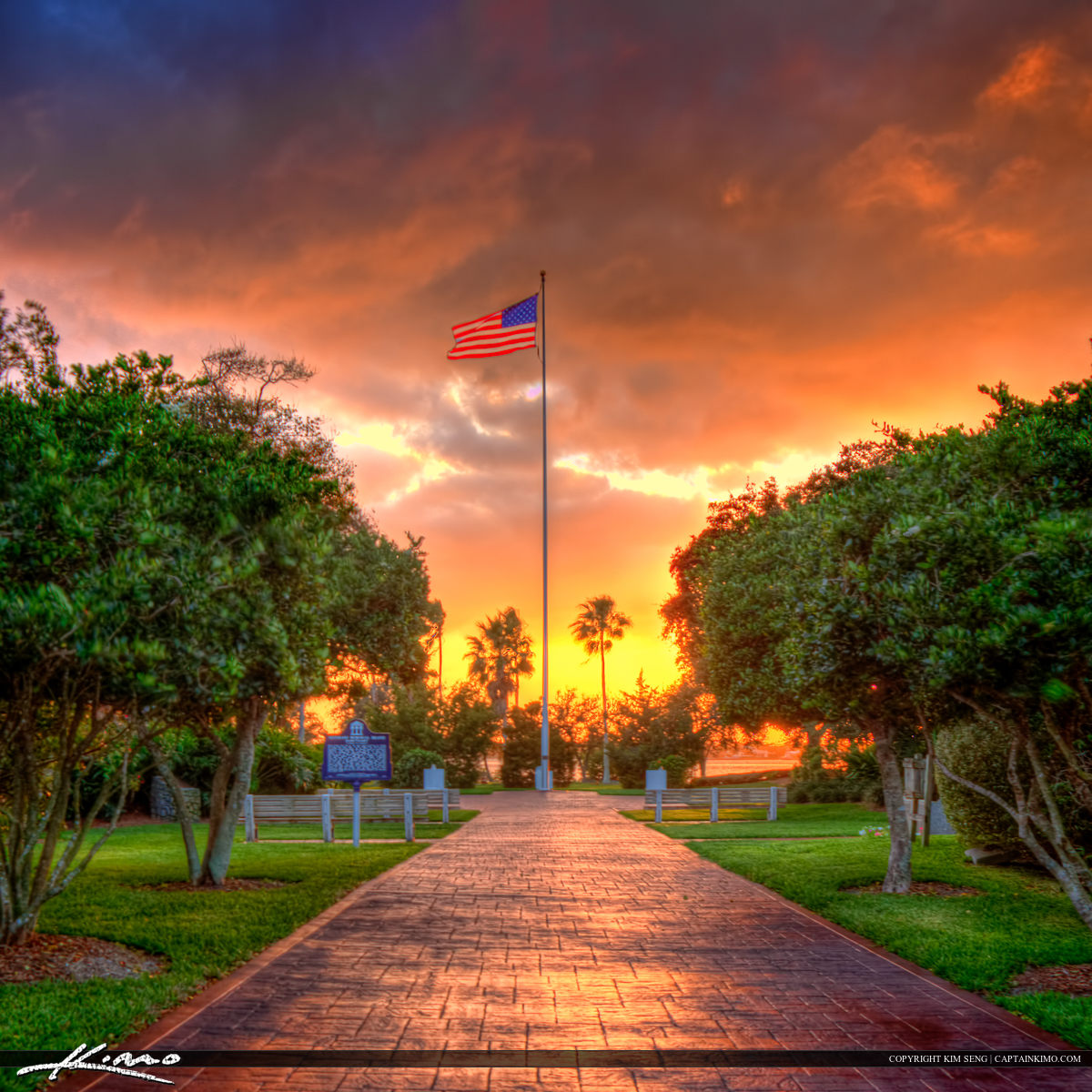 Vero Beach American Flag at Memorial Park