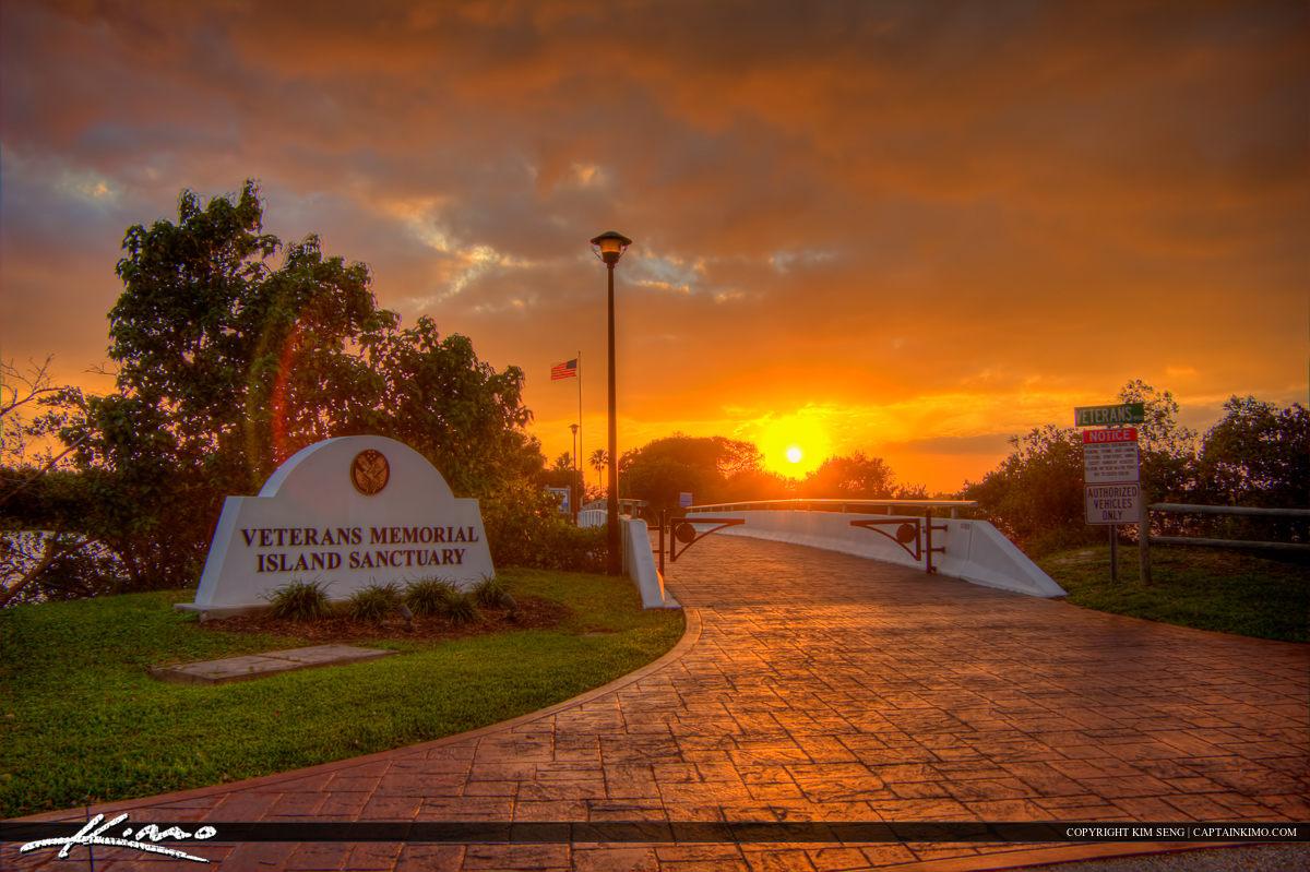 Veterans Memorial Island Sanctuary at Entrance Vero Beach Florid