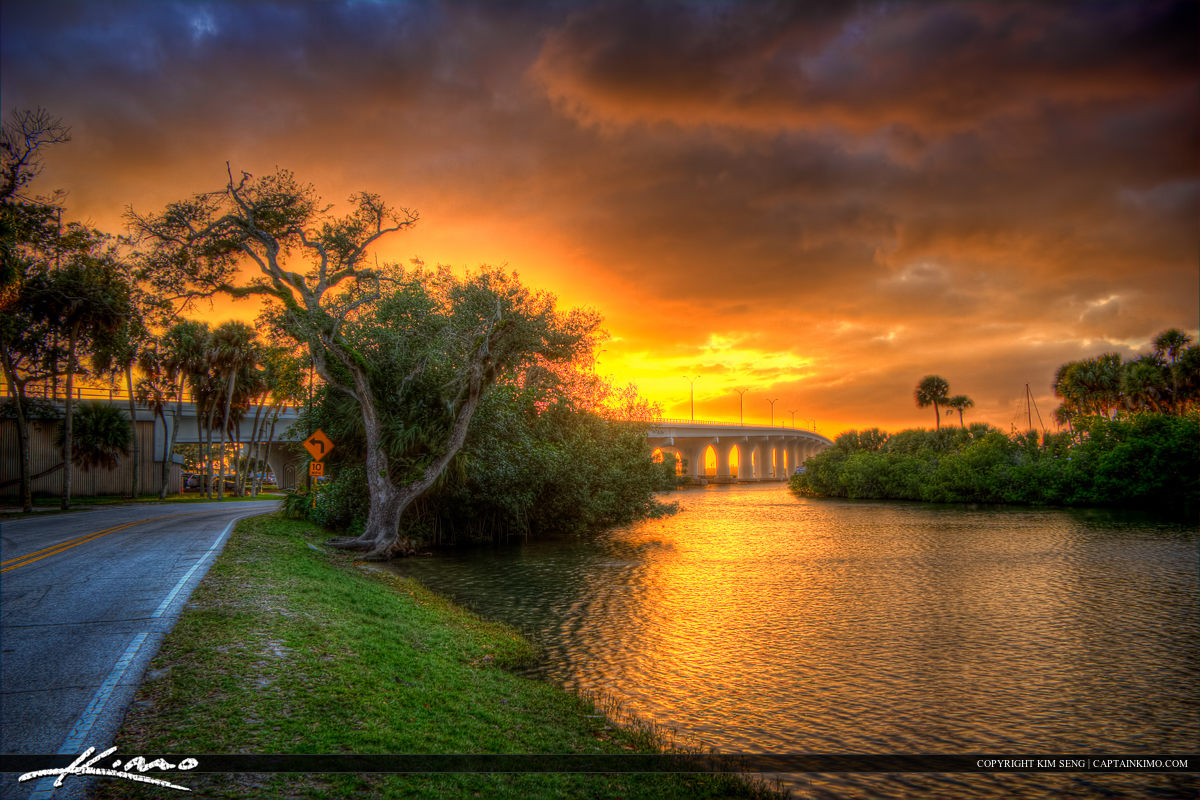Riverside Park Road Merril P Barber Bridge Vero Beach
