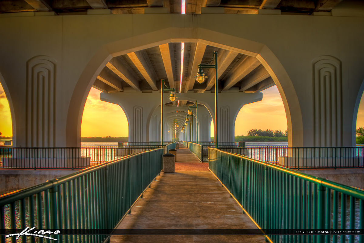 Underneath Merril P Barber Bridge Vero Beach Florida Indian Rive