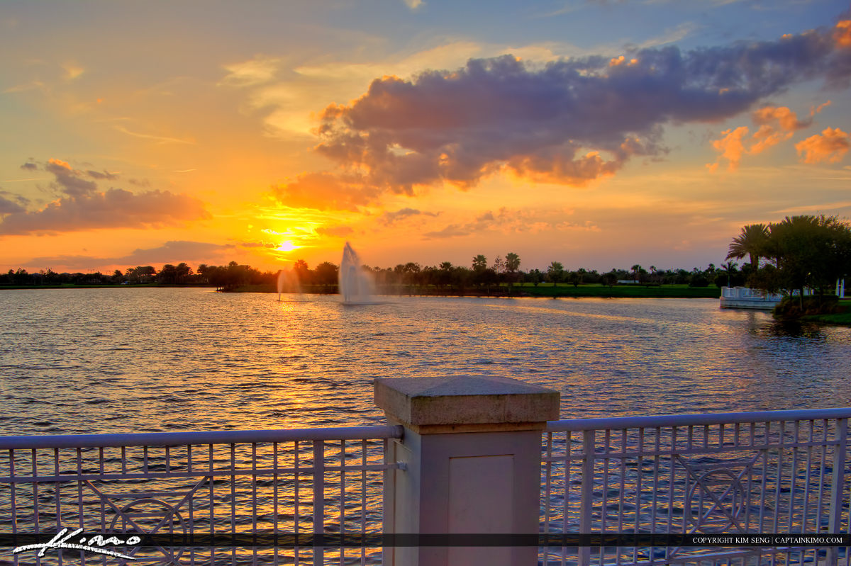 Tradition Square Sunset Fountain Port St Lucie Florida
