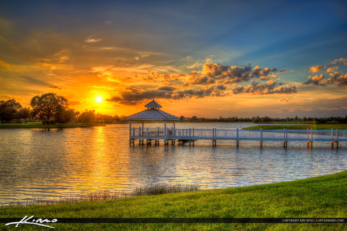 Port St Lucie Sunset at Tradition Lake