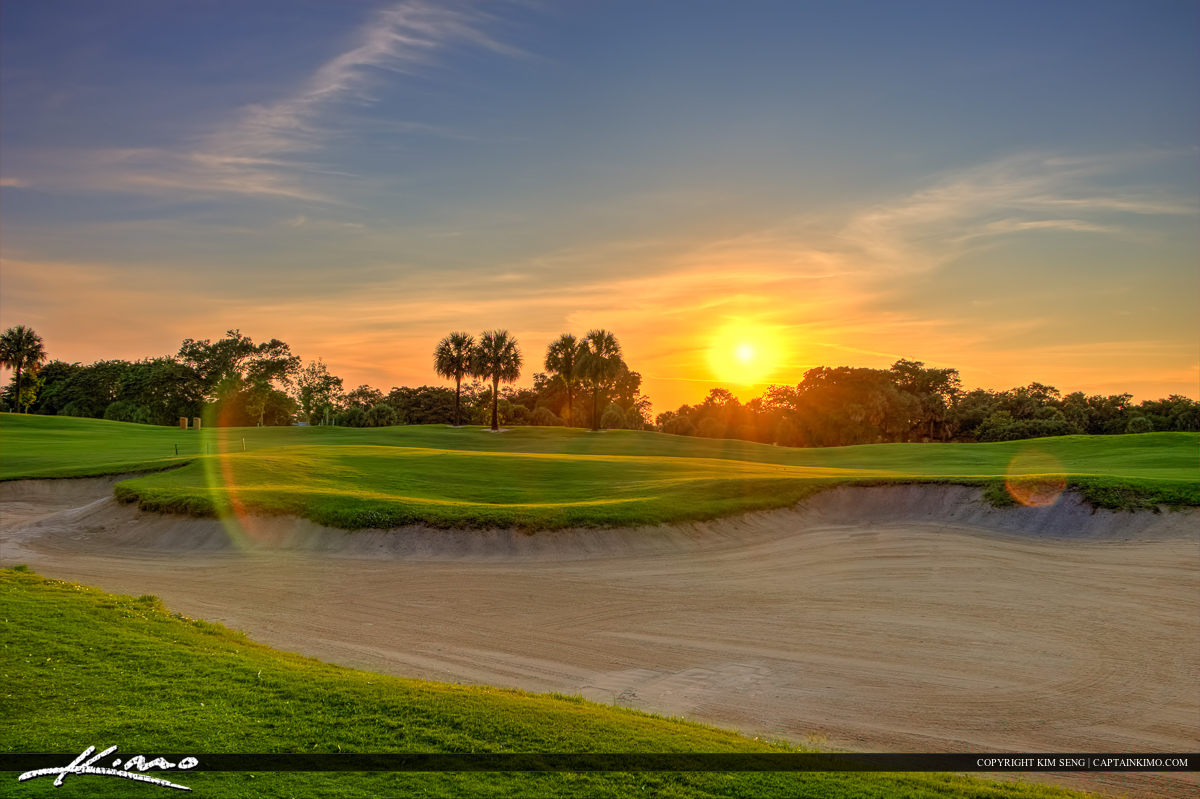 Green with Sand Golf Course North Palm Beach Florida