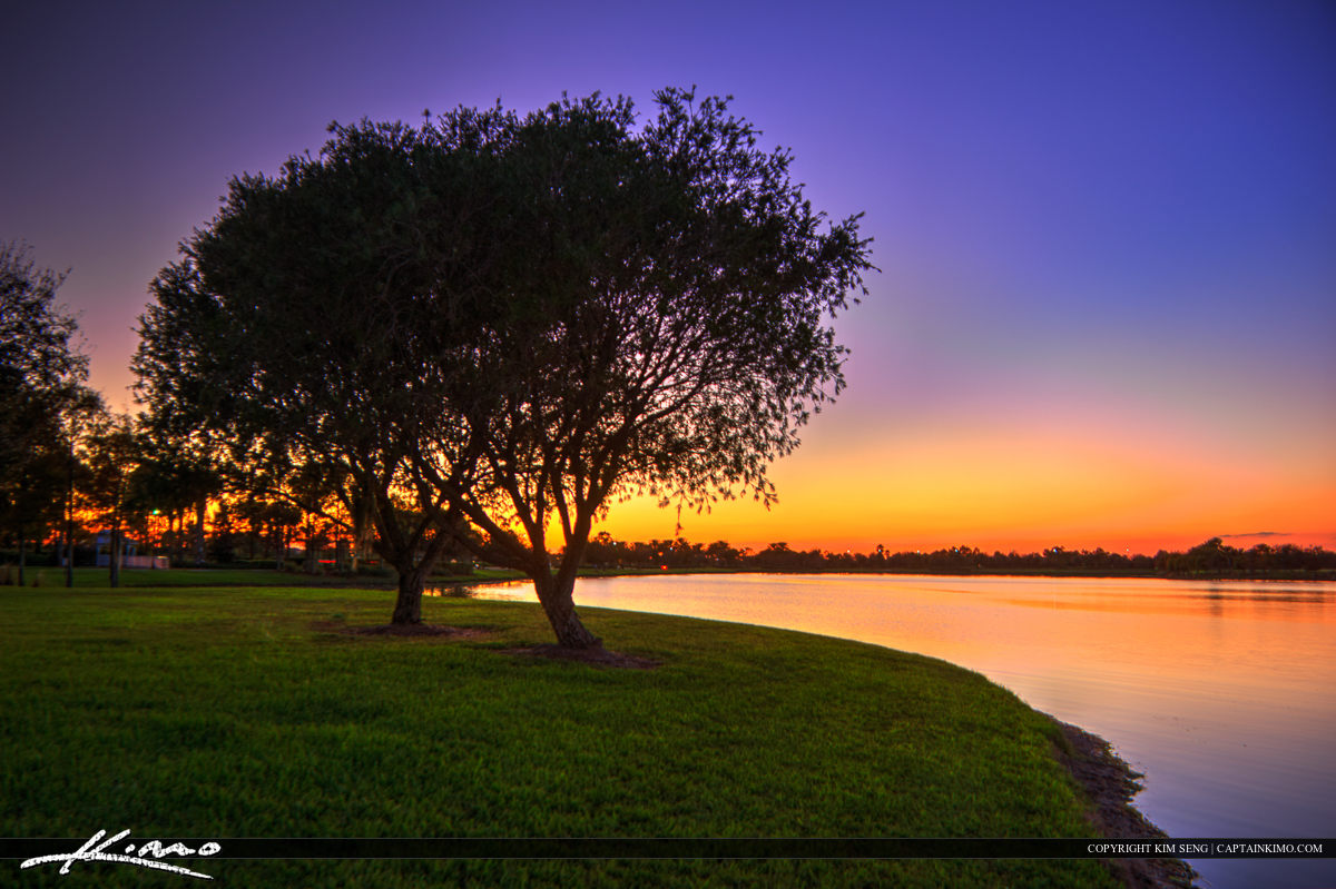 Tradition Lake Sunset Port St Lucie Florida