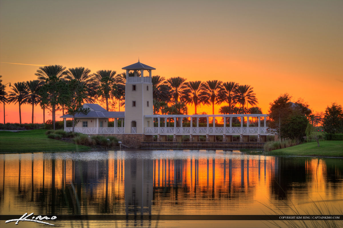 Sunset at the Tradition in Port St Lucie Florida WO Wreath