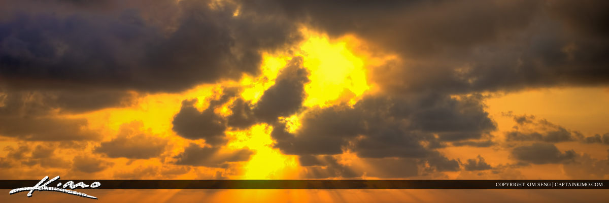 Burst of Warm Rays from Clouds Sunrays