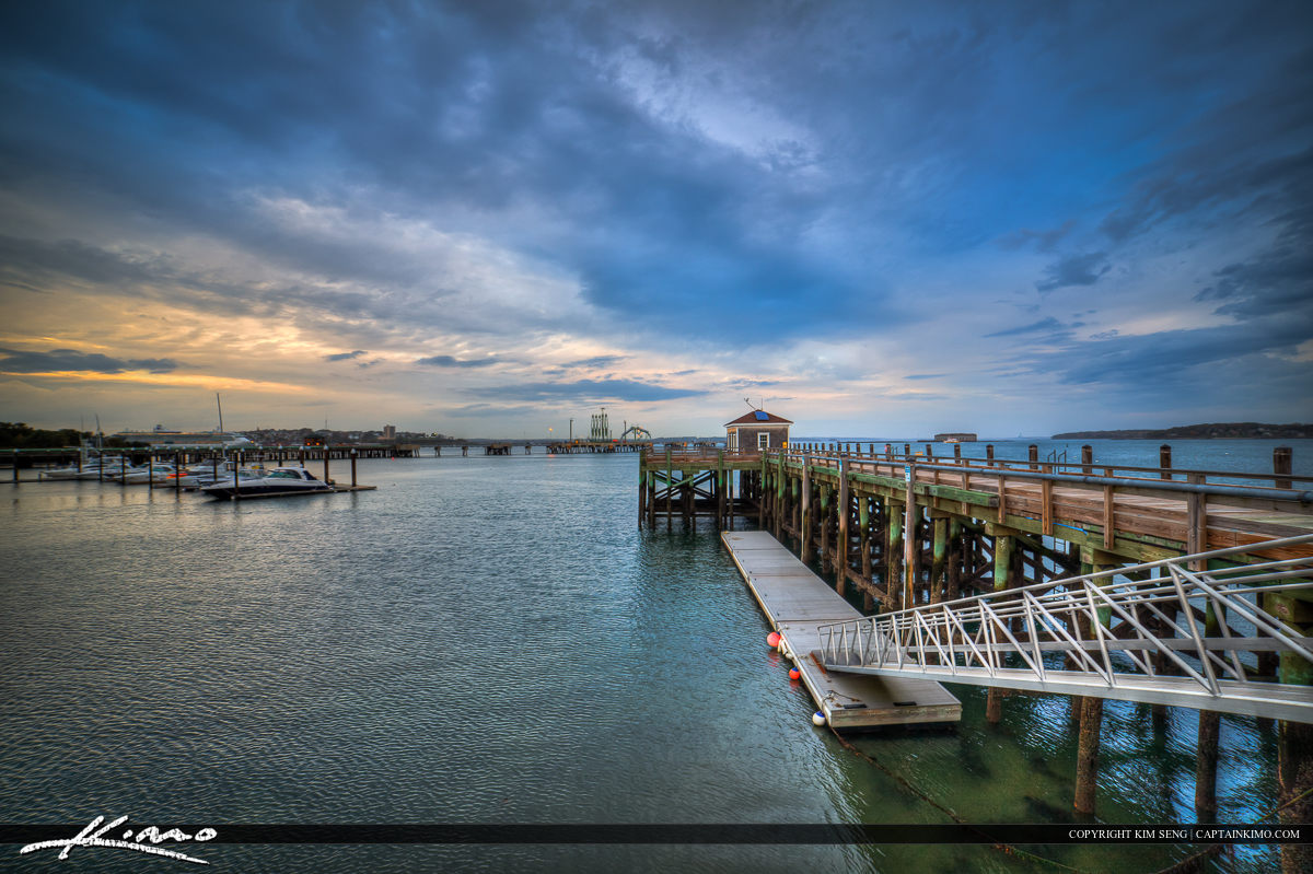 South Portland Maine at the Pier Marina Docks