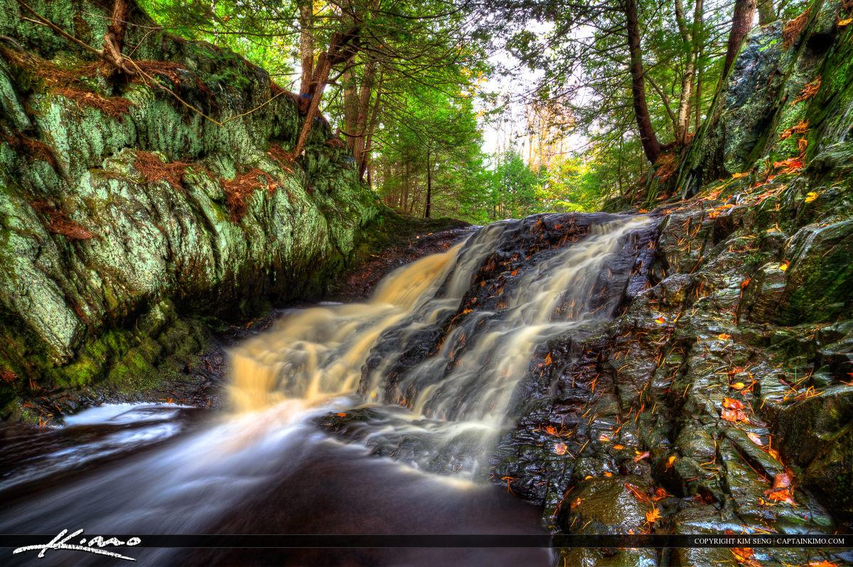 Upper Cascade Waterfall at Saco Trail Maine