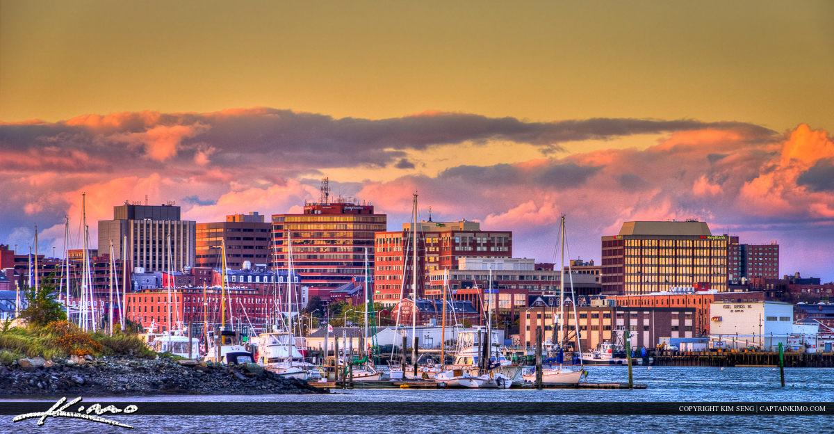 Portland Maine Downotwn City Photo of Marina
