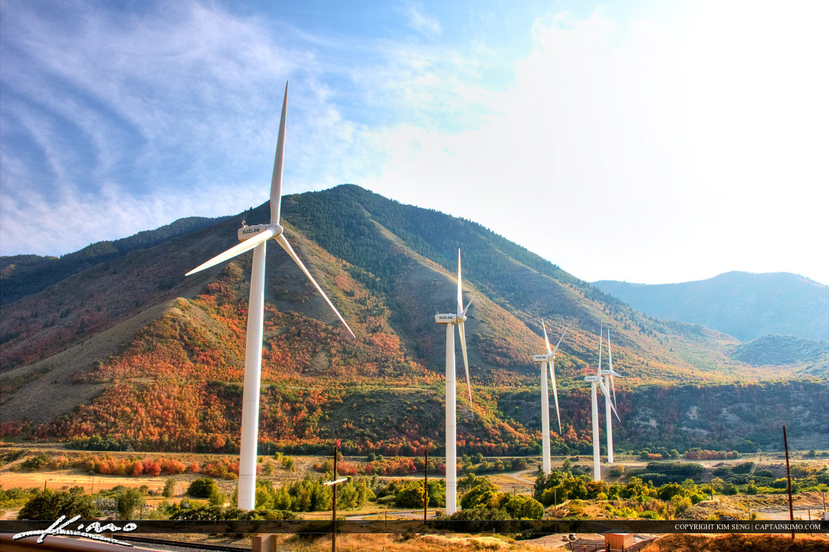 Wind Farm Creating Green Energy in the Mountains