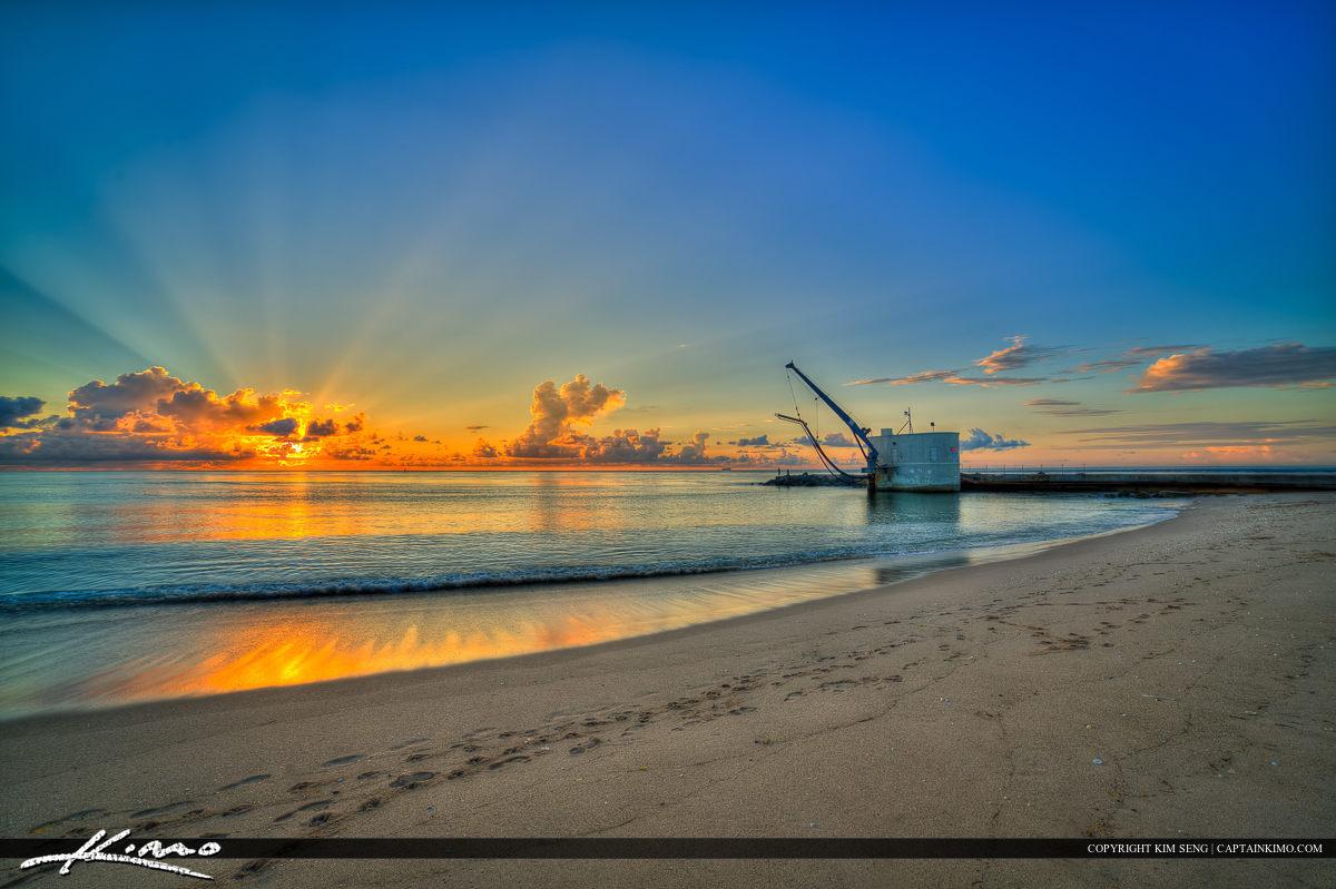Sunrise at Singer Island Palm Beach Inlet