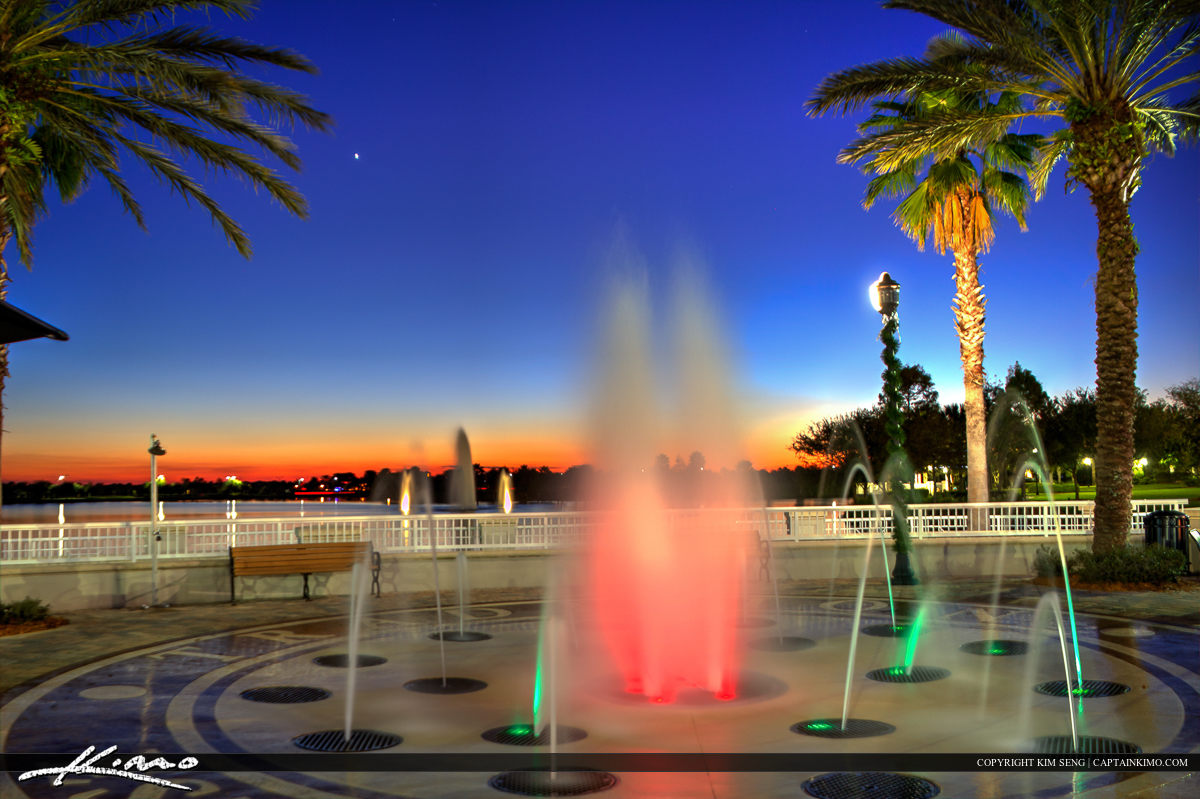 Tradition Square Water Fountain in Port St Lucie