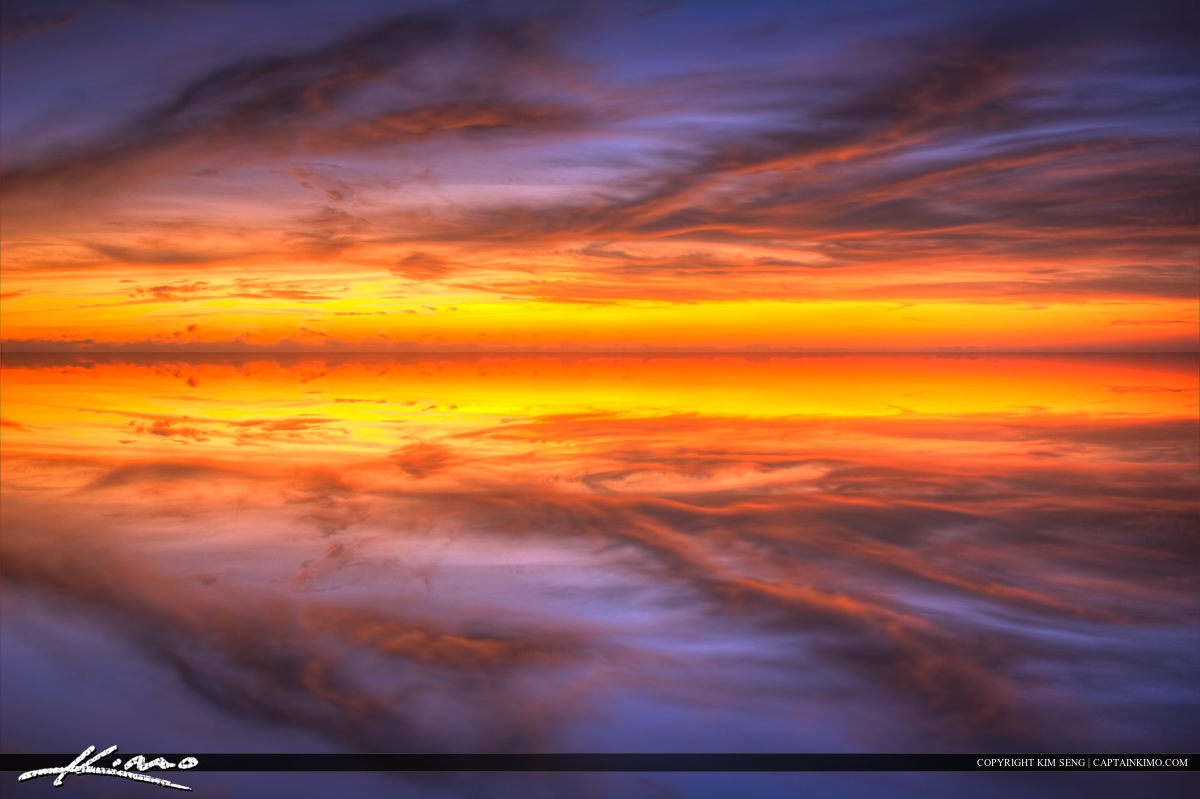 Tranquil Refelection Ocean Sky