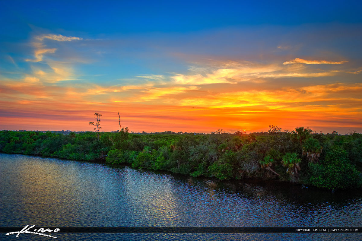 North Fork St Lucie River Sunset at Port St Lucie Florida