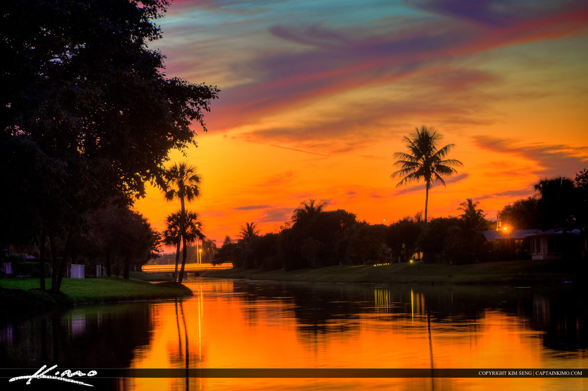 Palm Beach County Homes Sunset at Canal