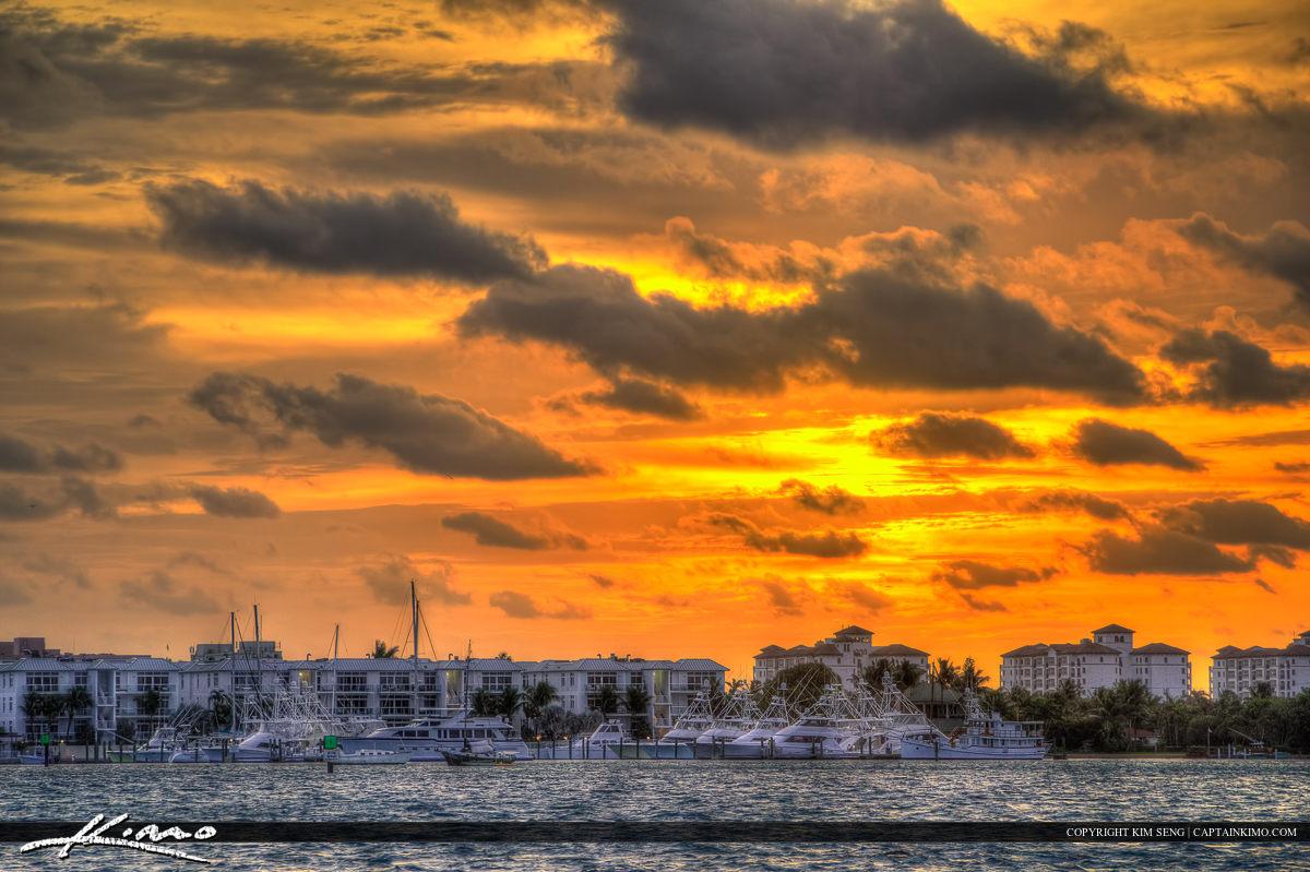 Sunrise Over Singer Island at Palm Beach Shores Marina