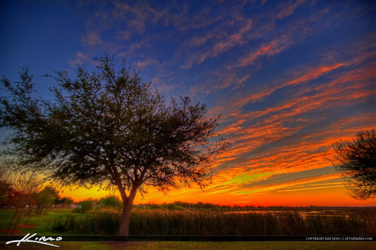 Sunset at East Lake Tohopekaliga Park St Cloud Florida