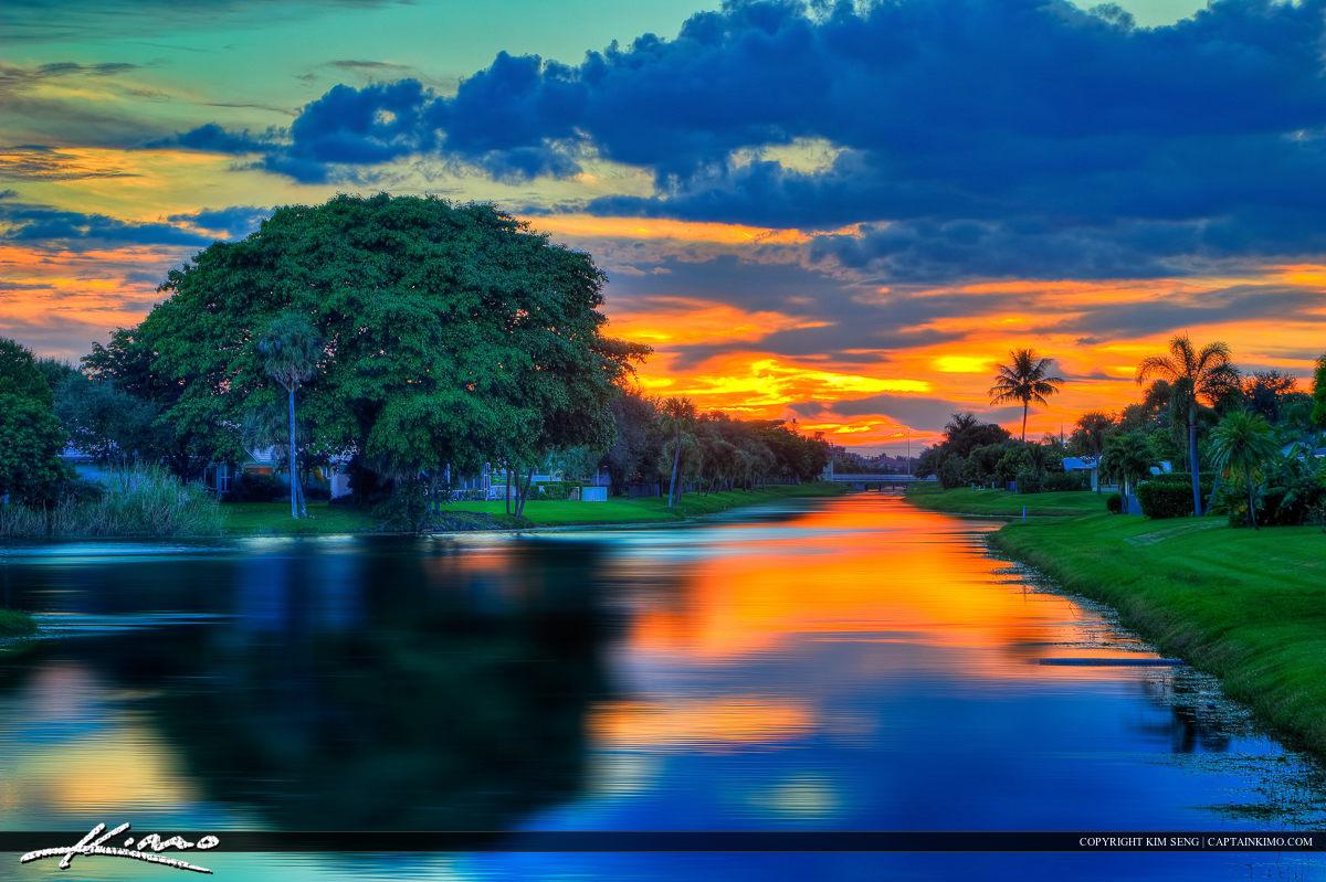 Palm Beach Gardens Sunset Lake Catherine Canal
