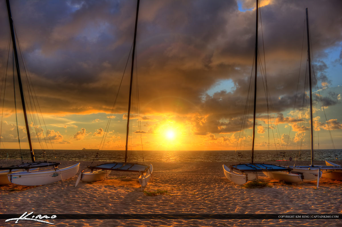 Sailboats at Fort Lauderdale Beach Park Sunrise
