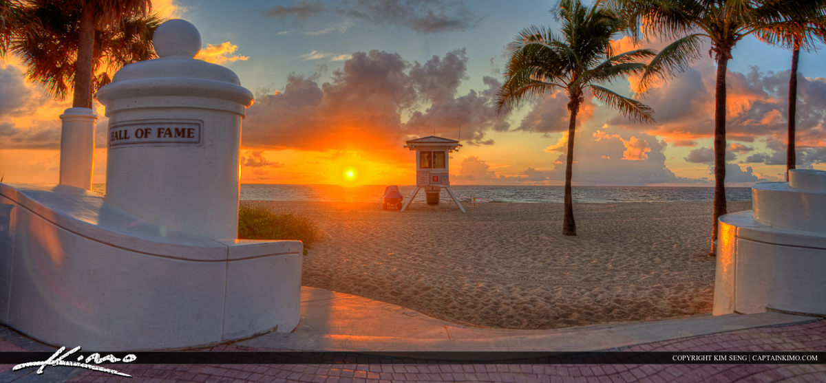 Pano at Fort Lauderdale Beach Park During Sunrise