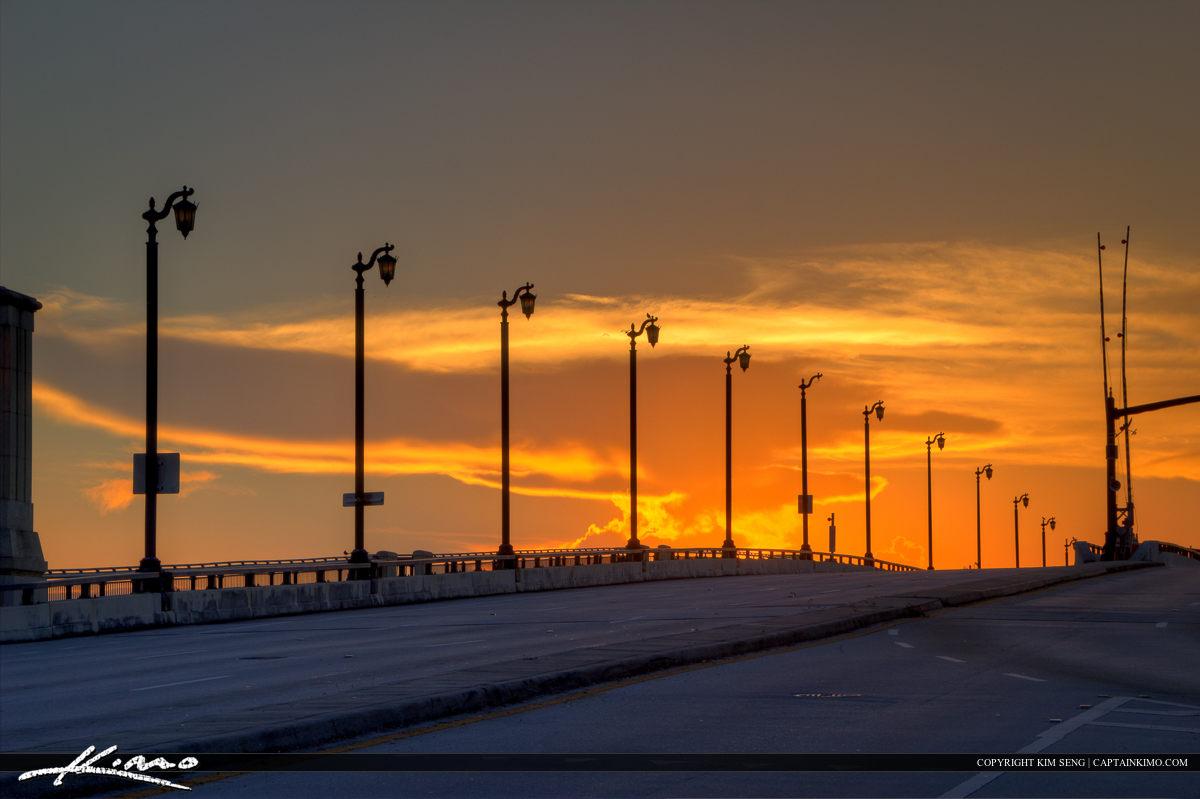 Sunrise Over West Palm Beach Royal Park Bridge