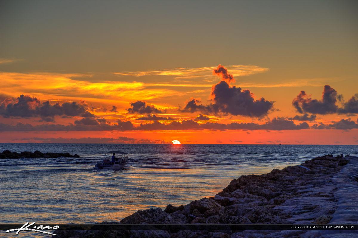 Sunrise at South Boca Raton Inlet Beach Park