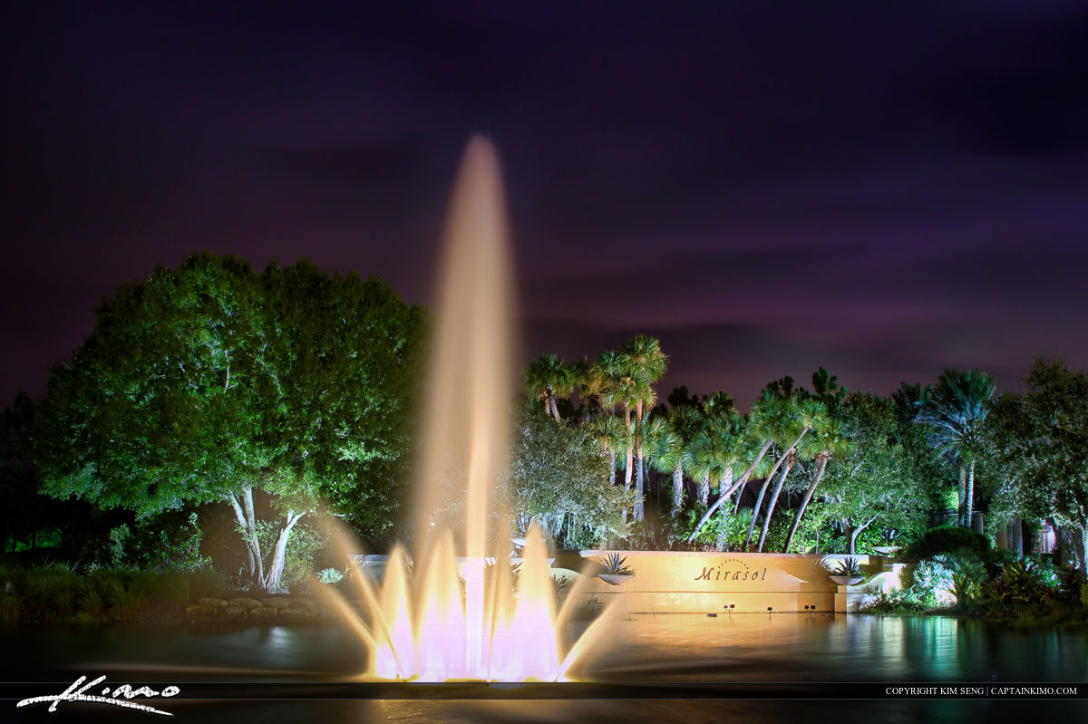 Mirasol Water Fountain at Palm Beach Gardens