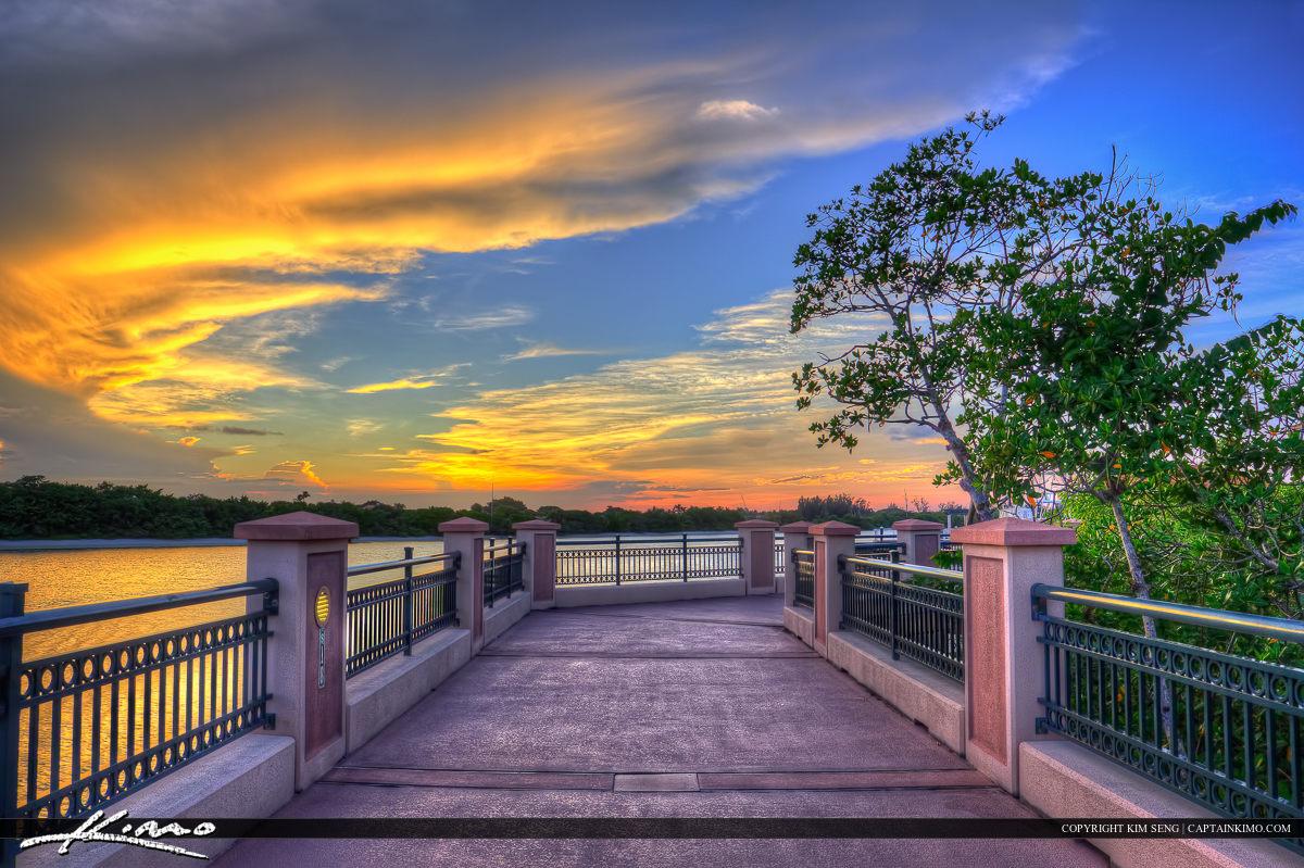 Riverwalk Sunset at Walkway Jupiter Florida