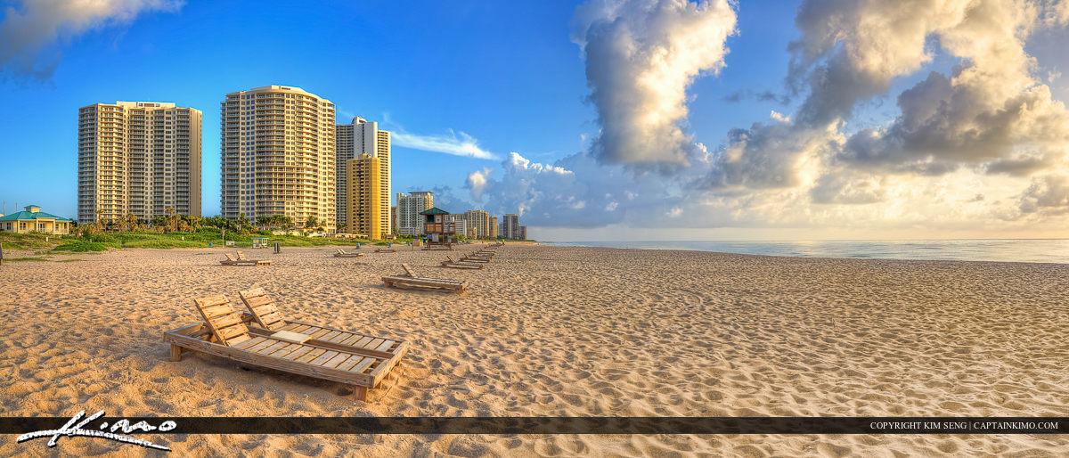 Reviera Beach Singer Island Panorama Condo Skyline