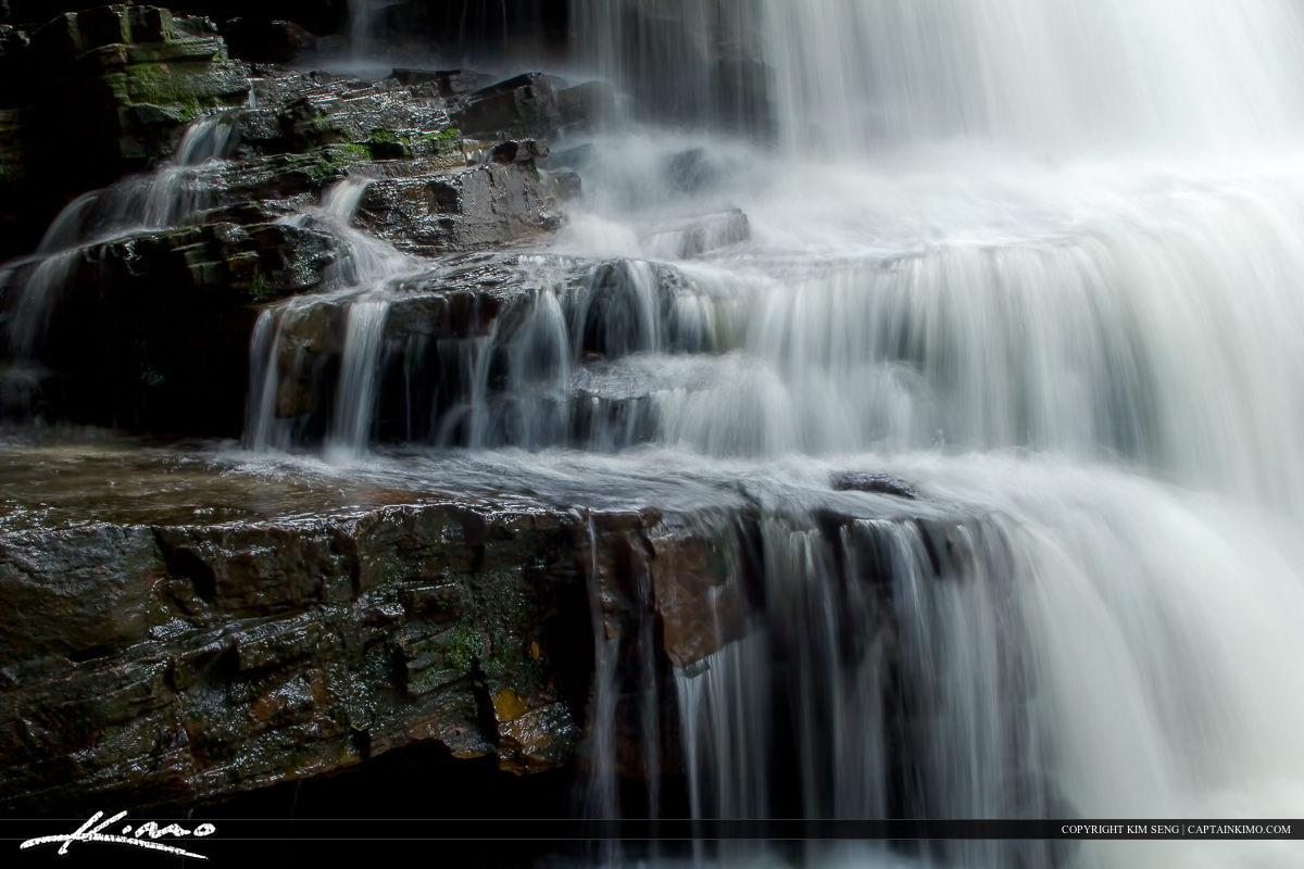 Peaceful Waterfall in Sinhanoukville Cambodia at Kbal Chhay