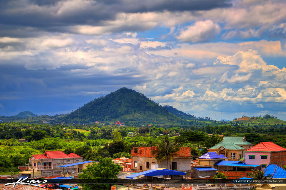 Pailin Mountains from Local Village in Cambodia